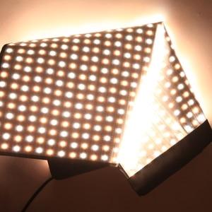 Image 3 - FalconEyes Studio LED panneau déclairage vidéo 150W lumière de remplissage Portable Flexible carré enroulable tissu lampe RX 24TDX avec Softbox