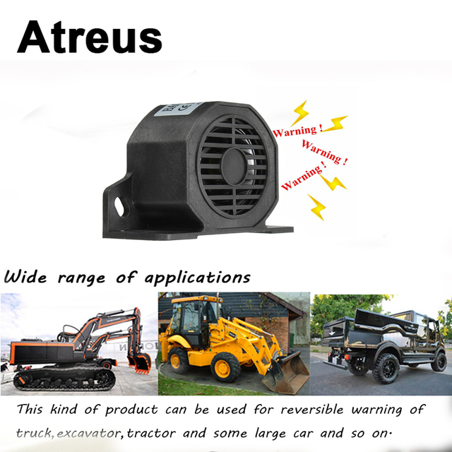 Atreus Car Truck Vehicle Horn Reversing Backup Beeper Warning Alarm for Lexus Honda Civic Opel astra h j Mazda 3 6 Kia Rio Ceed