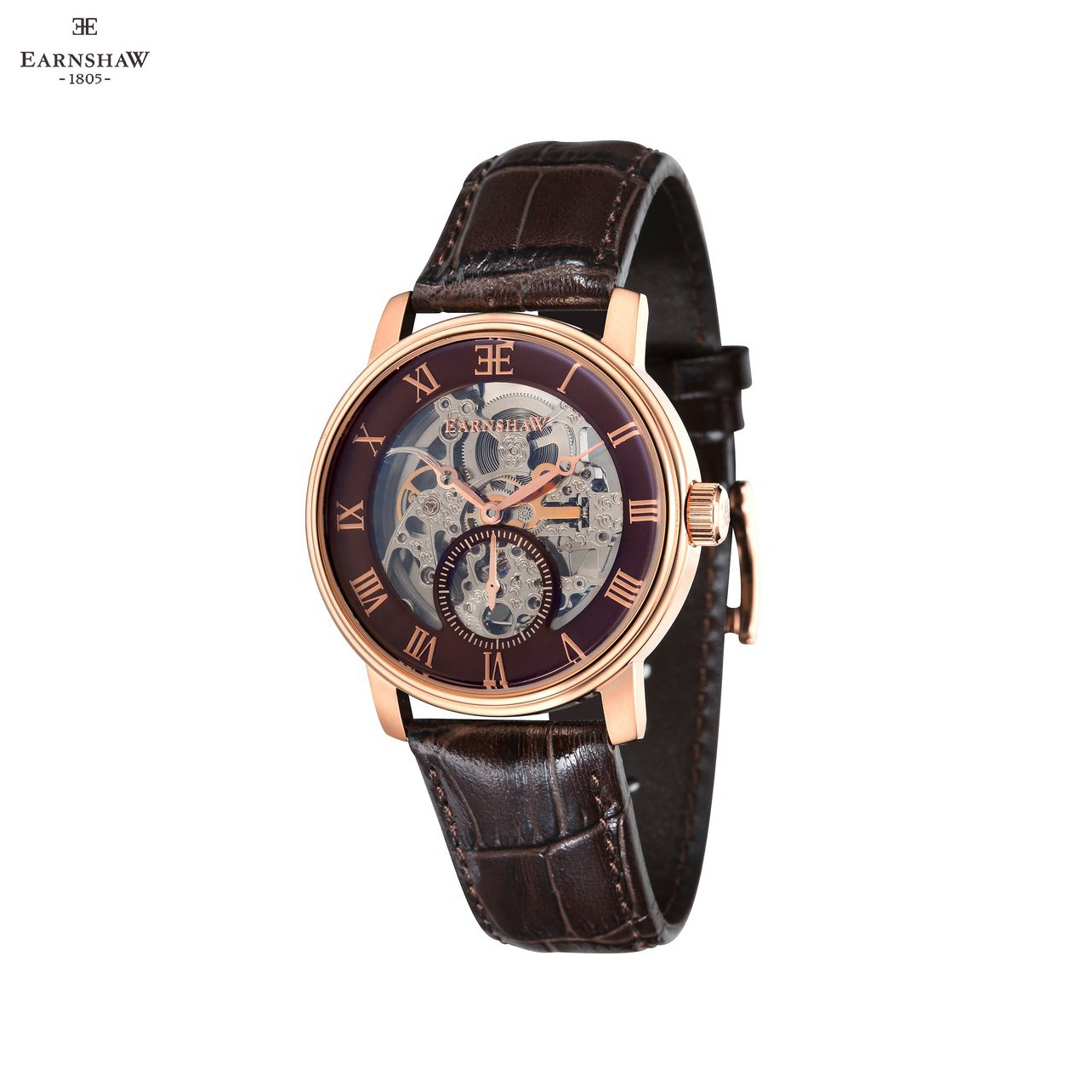 Наручные часы Earnshaw ES 8041 05 мужские механические с автоподзаводом на кожаном ремешке Механические часы    АлиЭкспресс