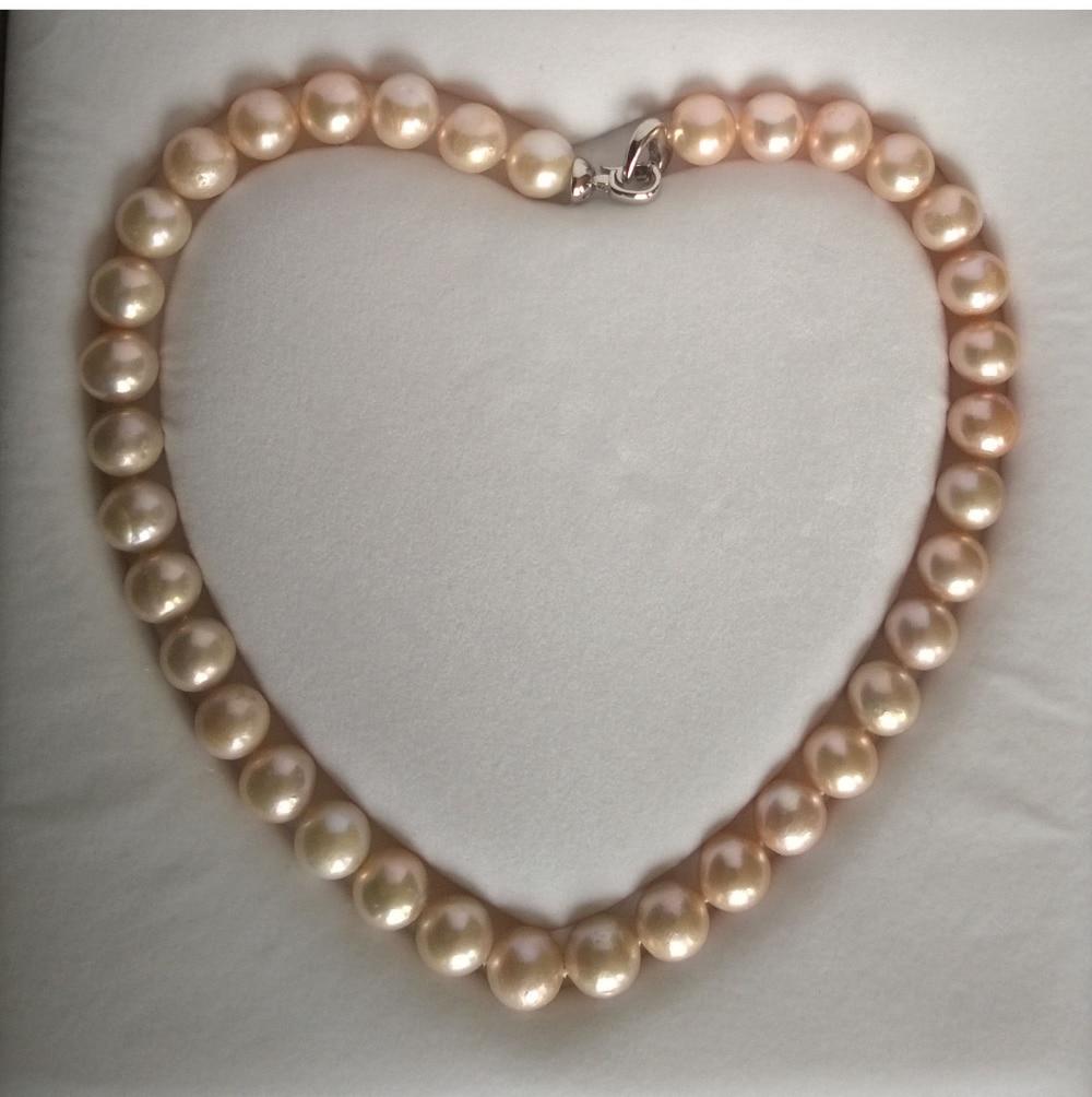 Bjc 0002067 grand collier de perles d'eau douce 11 - 12 mm, Blanc, Rose, Violet ( C0309 )