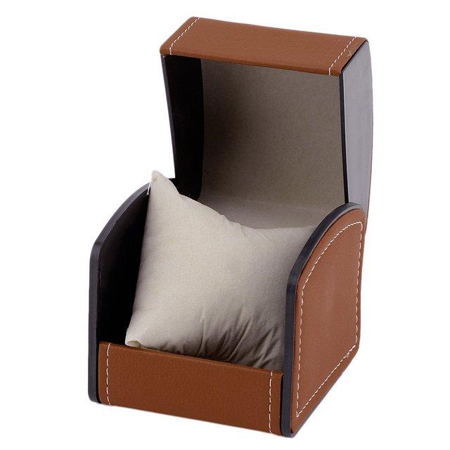 1 pcs luxury pu leather professional watch watch box display jewelry storage rack gift box watch jewelry