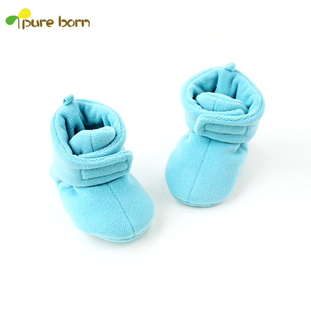 b3070056a480 Pureborn Baby Winter Shoes Unisex Flock Hook Loop Padded Boots ...