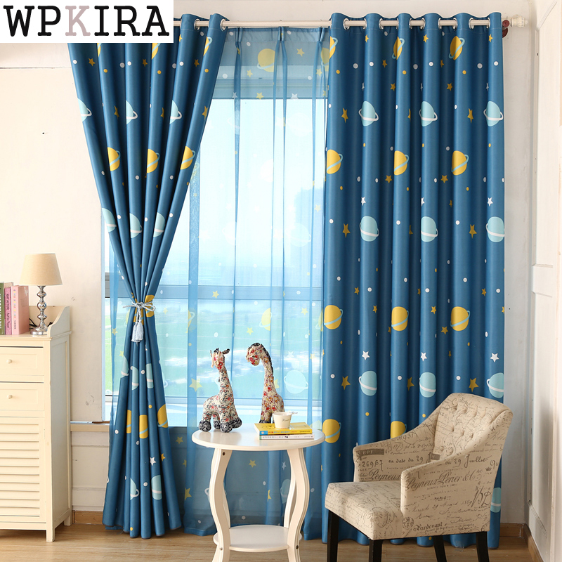Buy children 39 s room cartoon space planets - Childrens bedroom blackout curtains ...