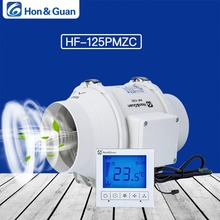 Hon&Guan 5 Inch HF-125PMZC Timer Extractor Inline Duct Fan with Smart Switch; 220~240V; Free shipping By DHL or UPS стоимость