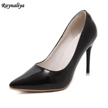 Women Pumps Spring Autumn High Heels Fashion Pointed Toe Shallow Wedding Party 10CM Thin Heel Sliver Pumps Shoes  MS-A0021 spring autumn women pumps women s shoes genuine leather high heel thin heels pointed toe fashion party slip on shallow solid