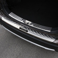 Stainless Steel Internal external Rear Bumper Protector Sill Trunk Tread Plate Trim Fit For Mitsubishi Outlander 2016