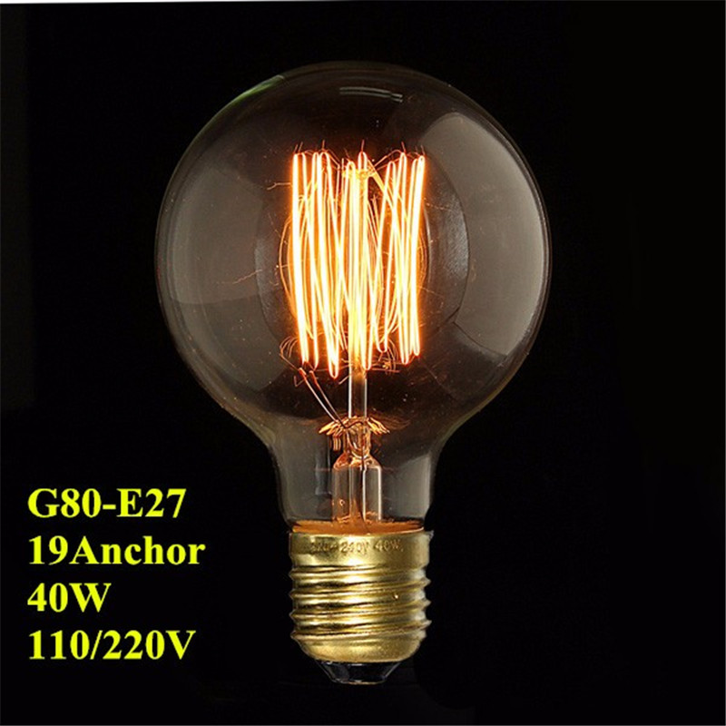 Smuxi Home LED Bulbs Filament Light Vintage Retro Antique Industrial Style Lamp Bulb Tungsten Bulb E27 Globe Edison Light