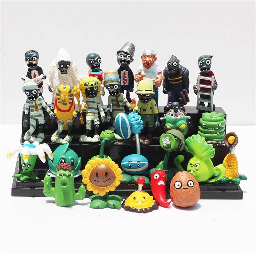 все цены на Plants vs Zombies PVC Action Figures PVZ Plant + Zombies Collection Figures Toys Best GiftS