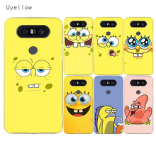 цена Uyellow SpongeBob SquarePants Case For LG G4 G5 G6 G7 V10 V20 V30 V40 Q6 Q7 Q8 Cover K8 K10 2018 Shell For LG K8 K10 2017 Cover