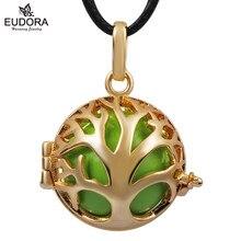 Family Tree cabida Eudora bola de la armonía colgante collar venta al por mayor de la joyería del bebé ángel de llamadas de 18 K chapado en oro colgante para 20 mm suave Chime