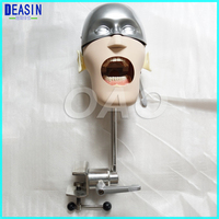 High Quality Stainless steel simple head model Apply to the oral cavity simulation training fixed on the dental chair