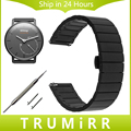 18mm Stainless Steel Watch Band for Withings Activite / Steel / Pop Quick Release Strap Butterfly Buckle Bracelet Black Silver