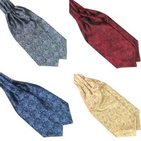 Ascot Tie Cravat Luxury Mens Neck Tie Satin  Self Tie Wedding  Newest Men's Ties & Handkerchiefs