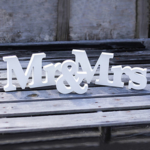 Hot Wedding Reception Sign English Letters Mr Mrs font b Table b font Centrepiece font b