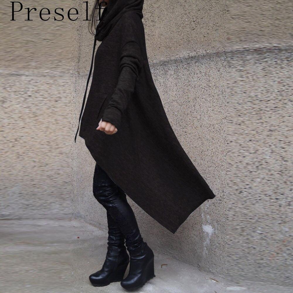Новые Свободной Женщины Моды Осень-Зима С Капюшоном Негабаритных Толстовка Пальто И Пиджаки