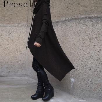Preself oversize hoodie sweatshirt women casual outwear hoody tops female loose long sleeve mantle hooded cover.jpg 350x350