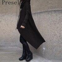 New Women Loose Fashion Autumn Winter Hooded Oversize Sweatshirt Coat Outwear