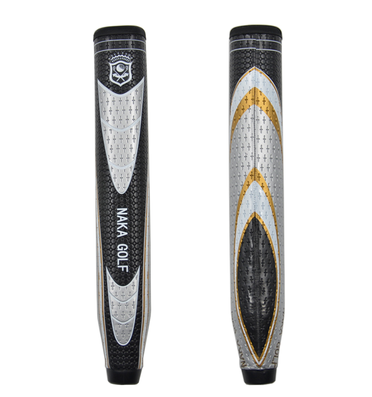 High Quality NAKA Jumbo Golf Putter Grip Silver/Black Golf Club PU Grips with FREE SHIPPING tata naka блузка