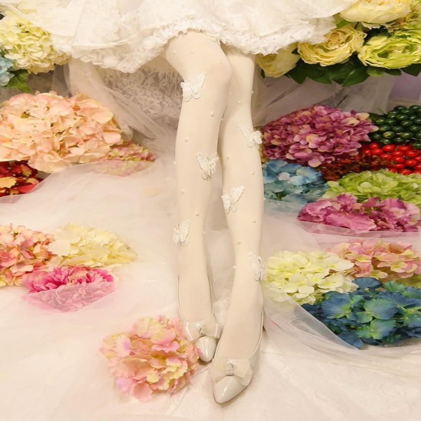 Princess gothic lolita pantyhose Candy rain winter light legged artifact plus cashmere thickening pantyhose 2070