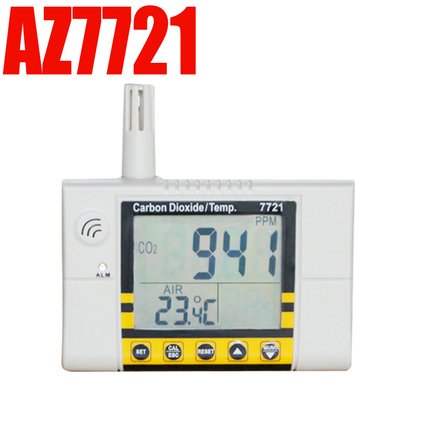 carbon dioxide co Gas detector alarm Wall mounted temperature and humidity tester