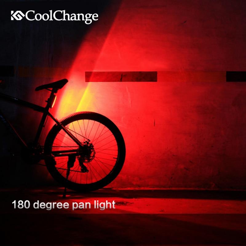 Coolchange bicicleta luz recargable usb led mountain bike delantero/cola de luz