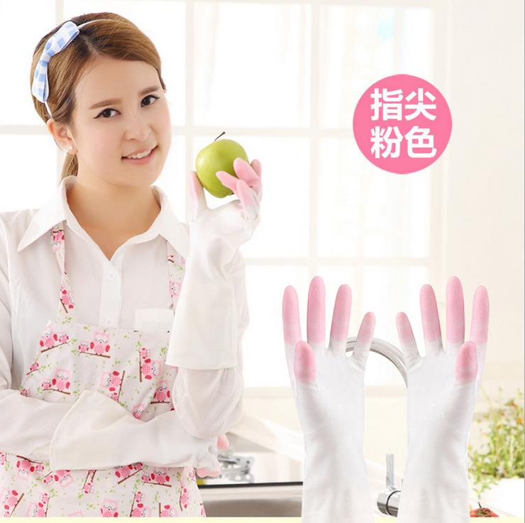 Free shipping 300pairs/lot Kitchen durable latex dishwashing gloves waterproof gloves rubber gloves