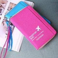 Oxford Waterproof Passport Cover Women Travel Wallet Passport Holder Document Organizer Multifunctional Travel Passport Bag