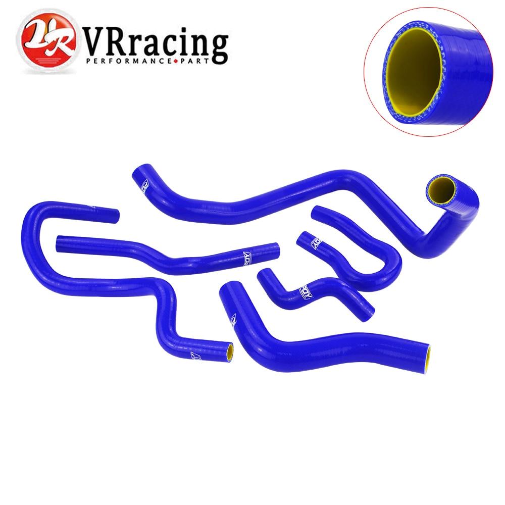 VR RACING - blue & yellow Silicone Radiator Hose Kit for CIVIC SOHC D15 D16 EG EK 92-00 6pcs with PQY logo VR-LX1303C-QY pqy plastic air intake pipe for honda civic 92 00 ek eg with air filter intake pipe black pqy ait11bkn