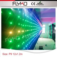 12x1.2m Video Display Function 90mm Pixels free shipping led christmas nightclub led vision curtain