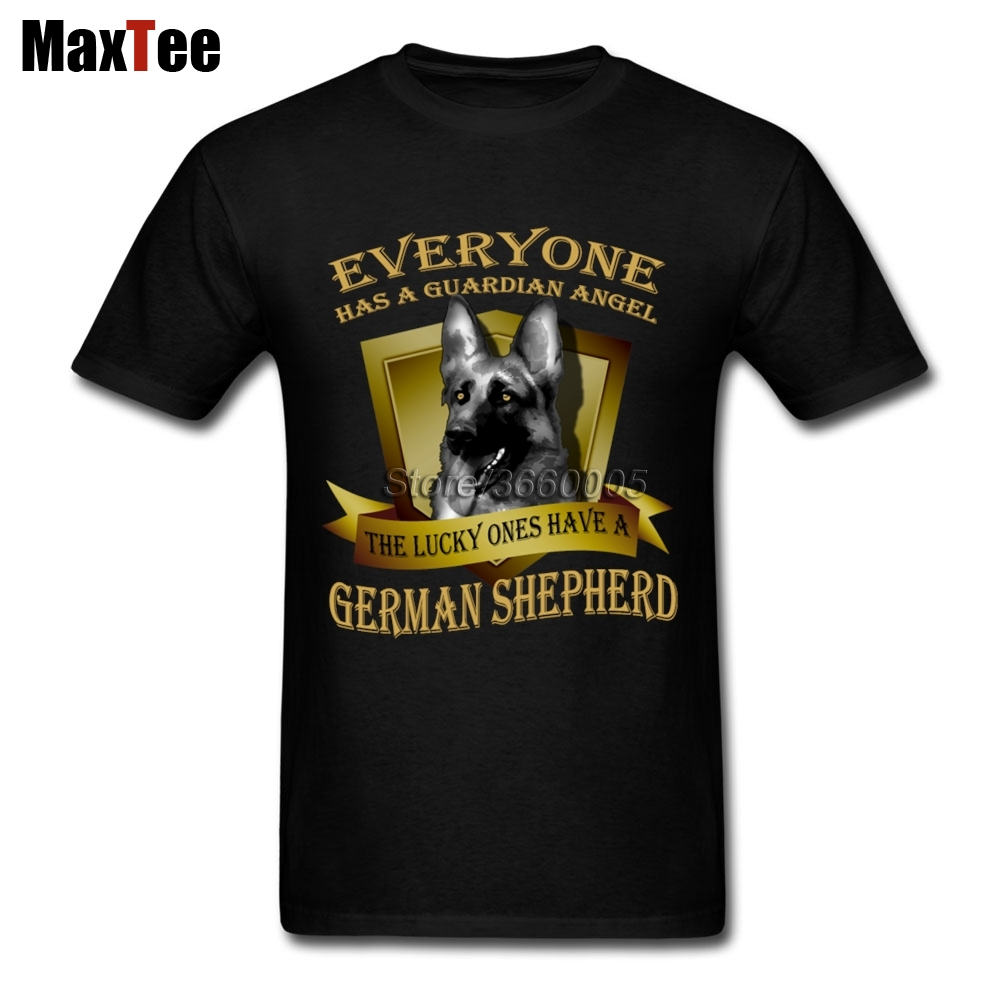 Guardian Dog German Shepherd Tee Shirt Men Mans Leisure White Short Sleeve Custom 3XL Couple Lucky Dog T Shirts