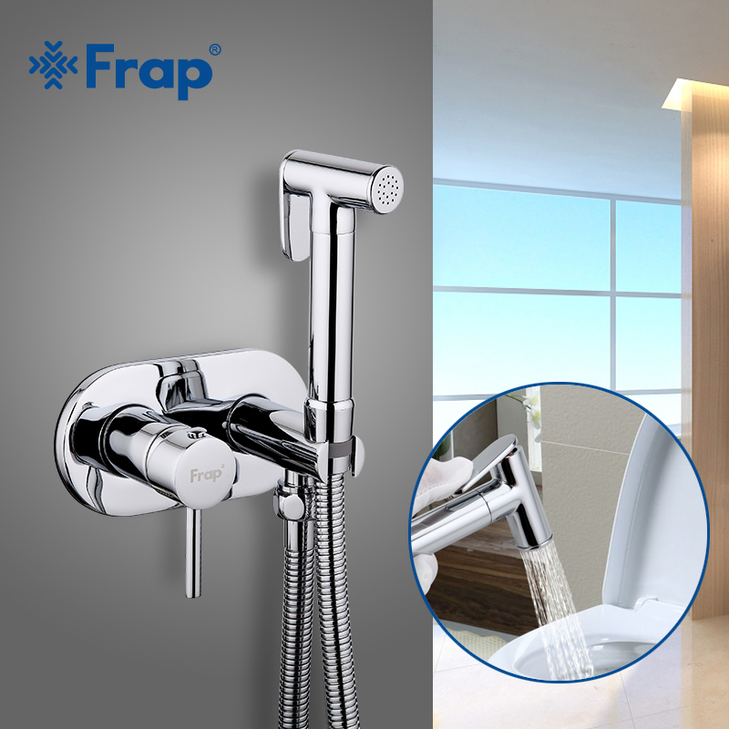 FRAP Bidet Faucet brass chrome bathroom bidet shower muslin shower bidet toilet cold and hot water