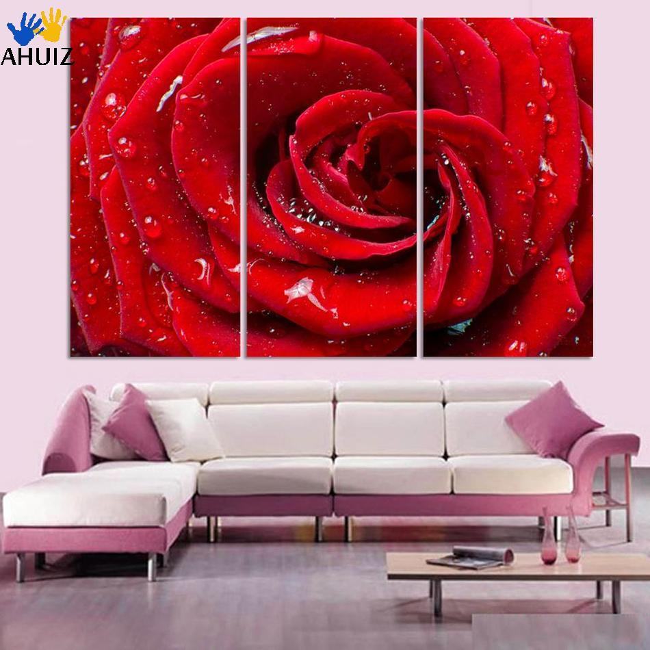 ④3 unidades de pared cuadros para la sala de la lona pintura del ...