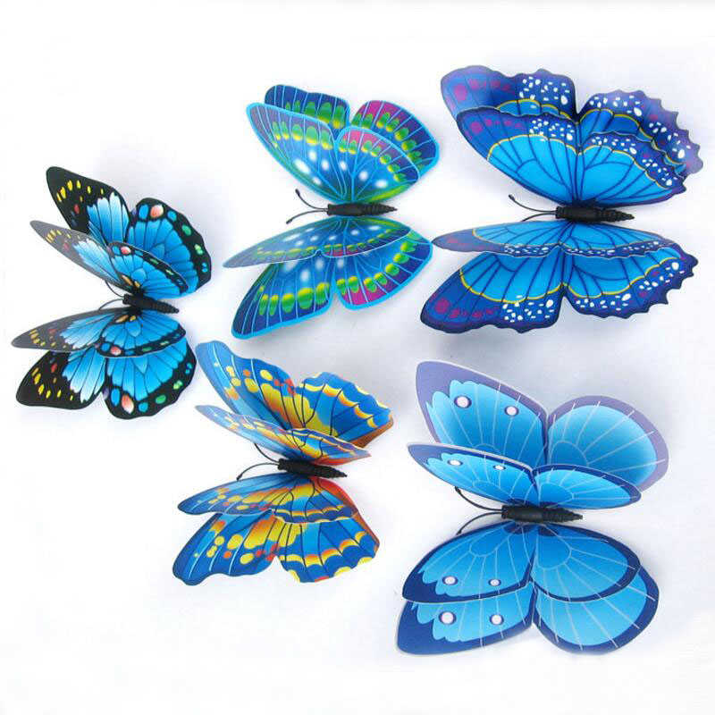 12pcs house decoration 3d butterfly wall sticker window sticker bedroom home decor diy wallpaper. Black Bedroom Furniture Sets. Home Design Ideas