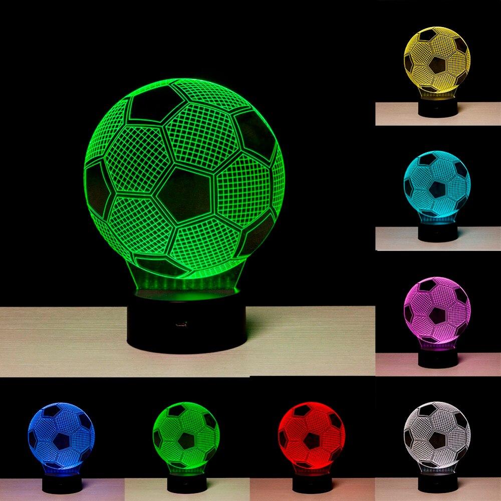 где купить Creative 3D illusion Lamp LED Night Lights 3D football Discoloration Colorful Atmosphere Lamp Novelty Lighting по лучшей цене
