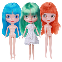 Cute lythe Doll 1/6 Ball Joint Can Change Eyes Hair 30cm Nude Baby Girls Christmas Toys Surprise Dolls without Clothes