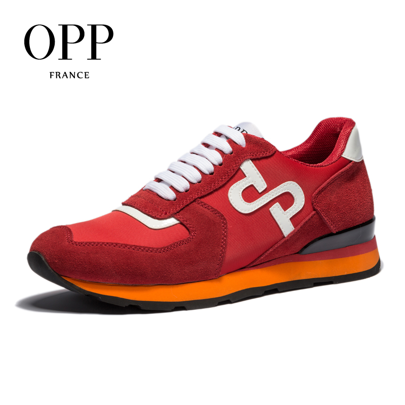 OPP 2018 Cow Leather Flats Fashion Shoes Genuine Leather Loafers For Men Shoes moccasins Men's Casual Footwear