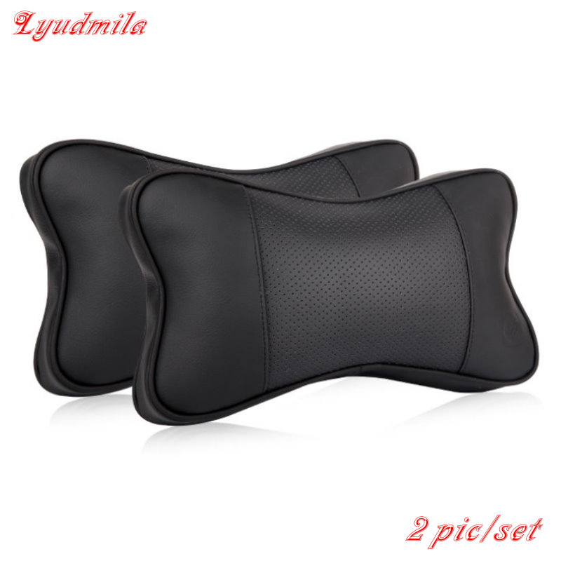 Hot Selling For Honda For Toyota Car Seat Supports Neck Auto Safety Pillow / genuine leather Car Headrest / 3D Bone Neck Pillow