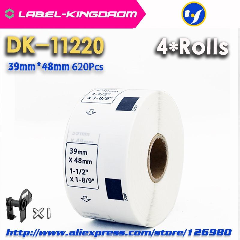4 Refill Rolls Compatible DK 11220 Label 39mm 48mm 620Pcs Compatible for Brother Label Printer QL