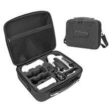 Taşınabilir PU taşıma çantası saklama çantası omuzdan askili çanta kutusu Hubsan Zino H117S 4K tasarım 3 hücre delikleri daha iyi ayrı depolama