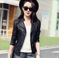 2017 Limited Mujeres Jaqueta Chaqueta Ofertas De Hoy Para Mujer de otoño-chaquetas de Moda Abrigo de Cuero Chaqueta de Bombardero de La Motocicleta Sexy Barato