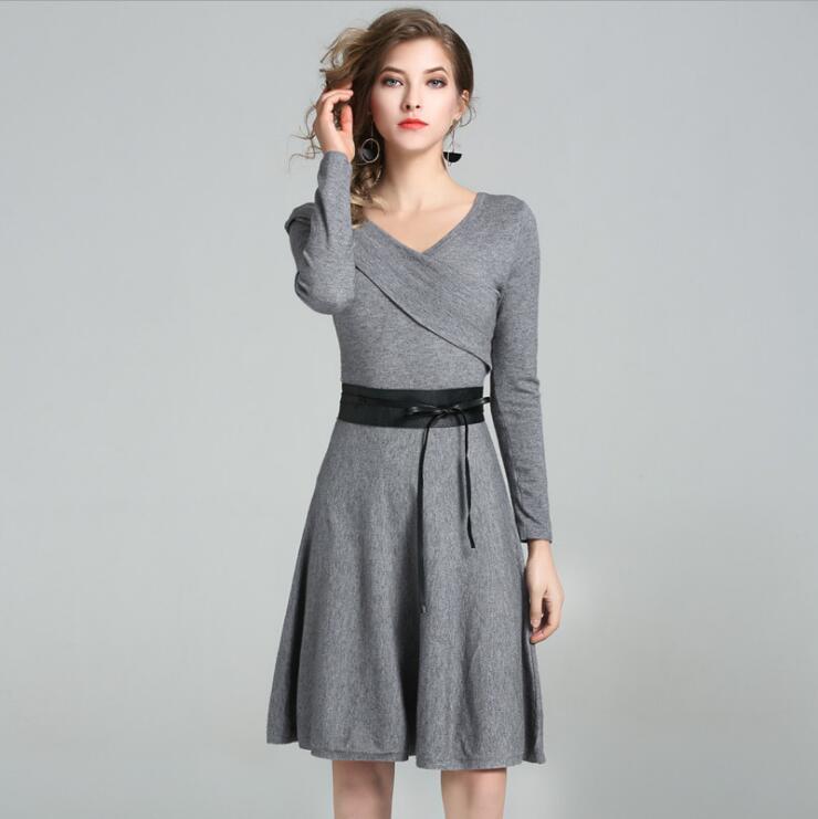 nueva tendencia americana europea de las mujeres de otoo de polister vestidos femme ropa casual