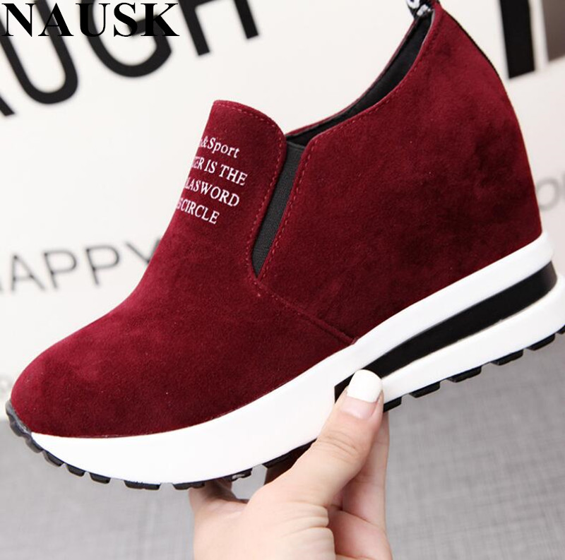 NAUSK Fashion Sneakers Women Flats Slimming Flats Platform Flat Shoes Women Spring Breathable Creepers Women Casual Shoes Loafer-in Women's Flats from Shoes on Aliexpress.com | Alibaba Group