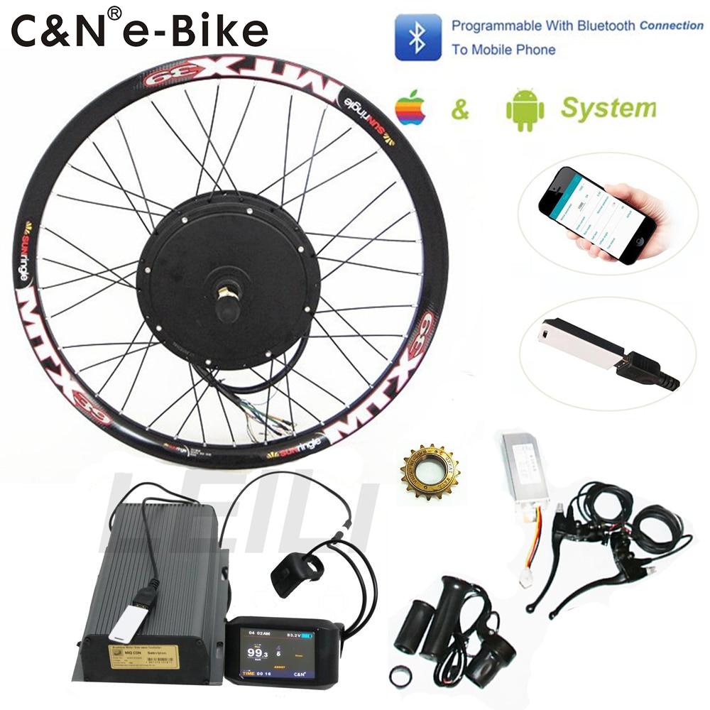 2019 Powerful 5000w wheel electric bike conversion kit hub motor kits