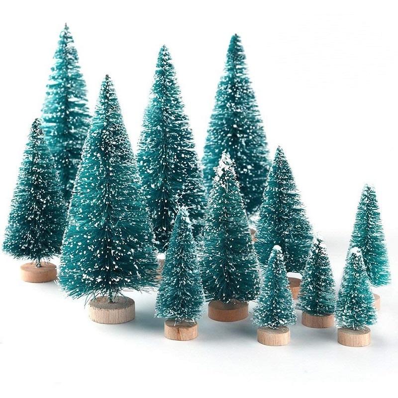 Hot Promo A263 34 Pcs Fiber Mini Christmas Tree Snow