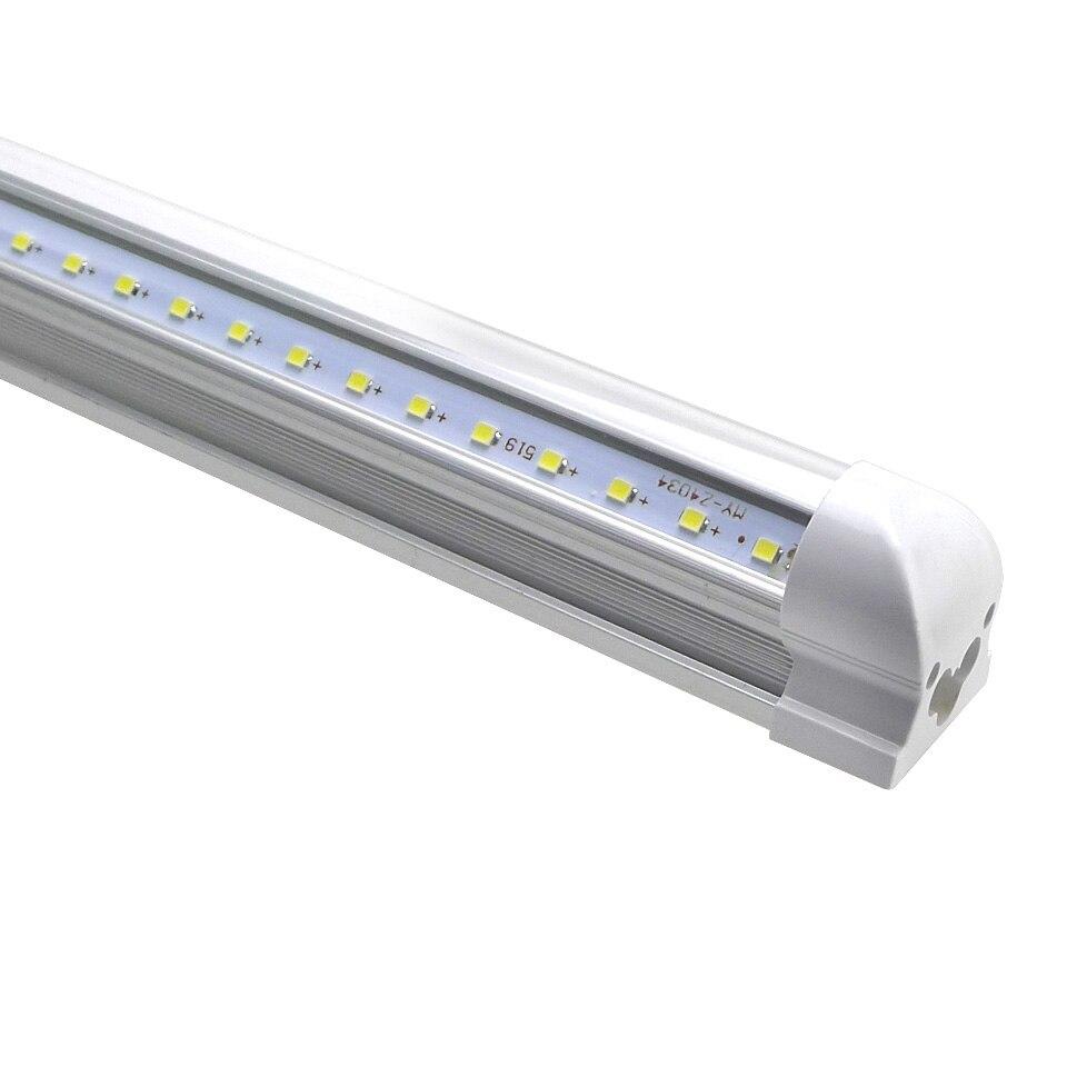25pcs Integrated T8 LED Tube V Shape Bubls Tubes 4ft 6ft 8ft Fluorescent