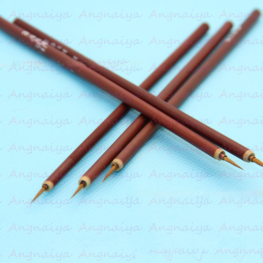 New Small Brush Nail Tools Bamboo Handle Nail Art Painting Brushes Nail Liner Brush DIY Manicure