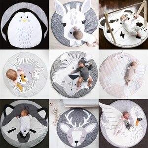 Детские коврики для игр, коврик для ползания, круглый ковер, игрушки, коврик для детской комнаты, декор для фотографии