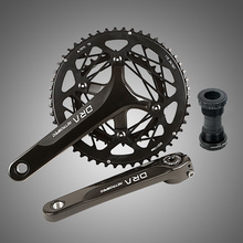 Q706 hollow hollow ultra-light tooth plate aluminum alloy road car folding car bike large tooth plate Bicycle Crank & ChainwheeL цена и фото