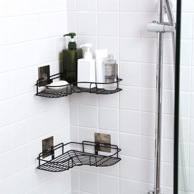 Groovy Creative Iron Wall Hanging Corner Shelf Multifunctional Punch Free Bathroom Shower Caddy Basket Suction Cosmetic Storage Baskets Download Free Architecture Designs Intelgarnamadebymaigaardcom