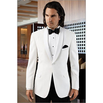 2017 New Fashion White Groom men Suit Wedding Tuxedos Formal Dress Groomsmen wear Wedding Suits Bridegroom Mens Suits With Pants